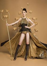 Đại diện Việt Nam thi Hoa hậu trái đất, diện sắc phục dân tộc tương đồng Lệ Hằng