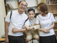 Vẻ đáng yêu của con trai 'Hoa hậu Hài' Thu Trang khi làm 'thầy giáo' của ba mẹ