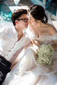 Trọn vẹn bộ ảnh cưới đẹp lung linh của Á hậu Tú Anh và ông xã thiếu gia