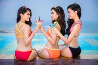 Lâu rồi mới thấy Top 3Hoa hậu Việt Nam2016 diện bikininóng bỏng thế này