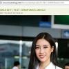 Không đánh giá cao, Missosology vẫn đăng tải loạt ảnh Đỗ Mỹ Linh lên đường dự thi Miss World 2017