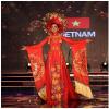 Bộ trang phục dân tộc nặng 30kg của Huyền My xếp áp chót ở Miss Grand International 2017