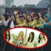 Bất chấp mưa gió, fan T-ara đã có mặt từ sớm để chuẩn bị