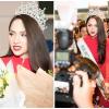 HOT: Hoa hậu Hương Giang diện áo dài đỏ rạng rỡ về nước sau đăng quang