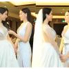Hoa hậu Kỳ Duyên gây xúc động khi nắm tay, dặn dò Diệp Lâm Anh trước giờ bước vào lễ đường