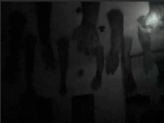 Những cánh tay, cẳng chân thò ra từ trần nhà.