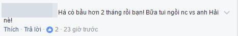 """Một khán giảkhác cũng cho hay: """"Hà có bầu hơn 2 tháng rồi bạn! Bữa tui ngồi nói chuyện với Hải nè!"""". - Tin sao Viet - Tin tuc sao Viet - Scandal sao Viet - Tin tuc cua Sao - Tin cua Sao"""