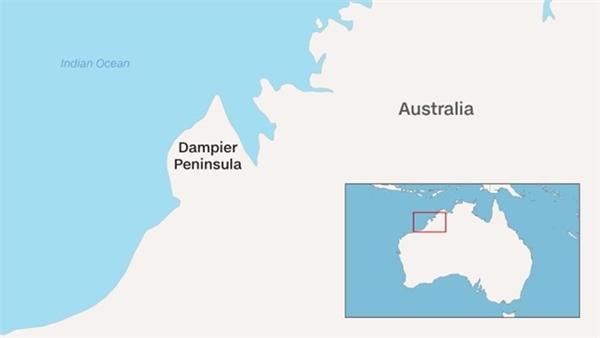 Khu vực phát hiện ra dấu chân khủng long khổng lồ ở Úc.