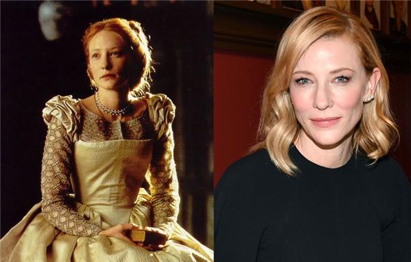 Cate Blanchett (1969) - Elizabeth (1998): Cate từng đảm nhận một vài vai nhỏ trong một số bộ phim nhỏ của Australia trước khi vụt nổi tiếng với vai chính đột phá trong Elizabeth. Cho đến hiện tại, cô vẫn miệt mài diễn xuất và để lại ấn tượng khó phai trong lòng khán giả qua những vai hết sức ấn tượng trong các phim như The Lord of the Rings, The Curious Case of Benjamin Button, Cinderella, hay Carol.