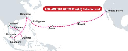 Tuyến cáp AAG thường xuyên gặp sự cố khiến internet Việt Nam đi quốc tế bịảnh hưởng nghiêm trọng.