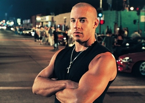 Vin Diesel thời The Fast and the Furious 2001.