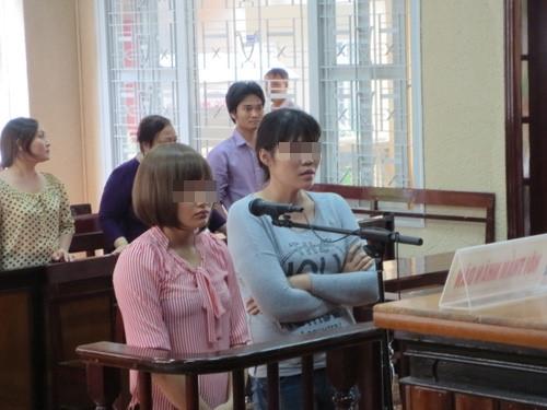 Trâm Anhvà Nguyễn Thị Hương trước phiên tòa.