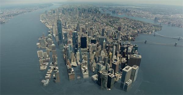 Các thành phố ven biển như New York sẽ chìm dưới nước.
