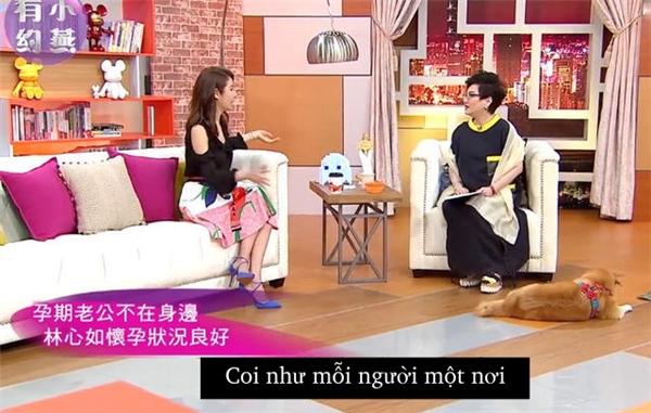 Không có chồng bên cạnh lúc bầu bí, Lâm Tâm Như cảm thấy thế nào?