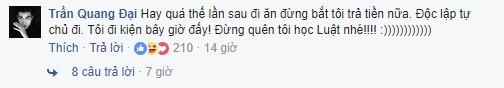 Người mẫu Quang Đại bạn thân của Hoàng Thùy đã hóm hỉnh nhắc nhở cô lần sau đừng bắt anh trả tiền khi đi ăn. - Tin sao Viet - Tin tuc sao Viet - Scandal sao Viet - Tin tuc cua Sao - Tin cua Sao