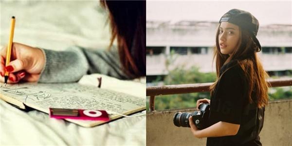 Lúc rảnhrỗi, con gái Hà Nội thích mơ mộng viết lách, còn con gái Sài Gòn thích lưu giữ kỷ niệm thông qua những tấm ảnh.