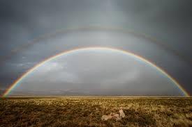 Cầu vồng kép xuất hiện ở hẻm núi Tiger, Nam Phi.