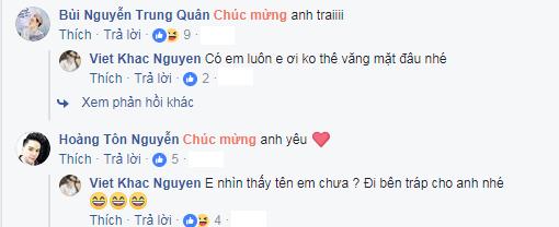 """Trung Quân Idol, Hoàng Tôn cũng chia vui với """"đàn anh"""". - Tin sao Viet - Tin tuc sao Viet - Scandal sao Viet - Tin tuc cua Sao - Tin cua Sao"""
