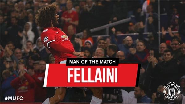Fellaini được bầu là Cầu thủ hay nhất trận.