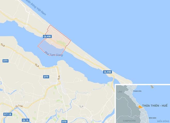 Xã Quảng Ngạn (huyện Quảng Điền), địa phương xảy ra sự việc. Ảnh:Google Maps.