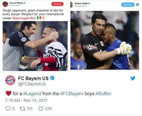 Trang Twitter của CLB Bayern Munich cũng bày tỏ cảm xúc về người đồng đội cũ của Arturo Vidal.