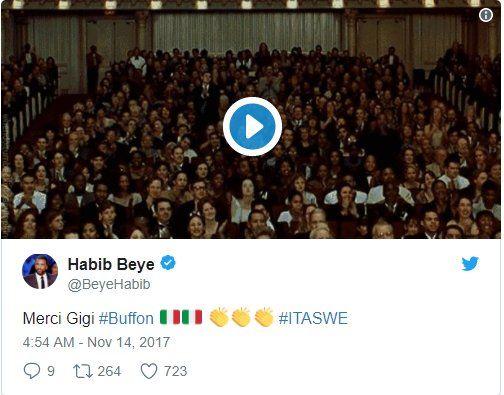"Cựu tuyển thủ Senegal, Habib Beye:""Cảm ơn Gigi !"""