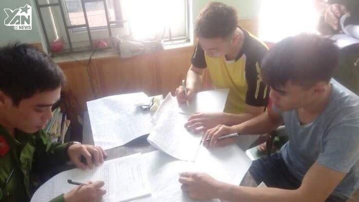 Nhóm thanh niên nhà trai tại cơ quan điều tra