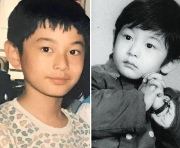 """Với những hình ảnh chụp được, hầu hết mọi người đều nhận xét rằng quý tử Bọt biển nhỏ chính là """"sao y bản chính"""" của ông bố Huỳnh Hiểu Minh."""