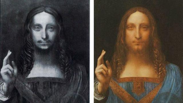 """Tác phẩm """"Đấng cứu thế"""" của danh họa Leonardo da Vinci (Ảnh: Getty)"""