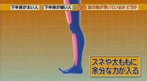Khi ngón chân lơ lửng, các bộ phậnkhác phải hoạt động nhiều hơn, khiến bắp chân to hơn