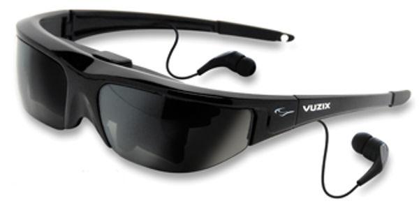Một chiếc kính đen thông minh tích hợp cả camera và tai nghe.