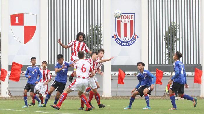 Vượt qua U15 Stoke City trên chấm phạt đền, U15 PVF ghi điểm trong ngày khai trương