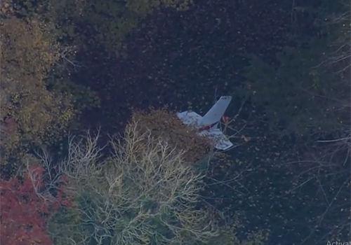 Hiện trường vụ tai nạn giữa hai máy bay. Ảnh: Telegraph.
