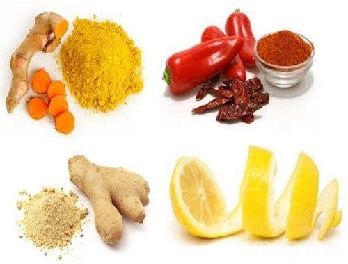 4 loại nguyên liệu chính của công thức gồm: chanh, nghệ, gừng, bột ớt