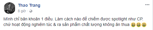 Dòng trạng thái xincư dân mạng hiến kế để chiếm được chú ýnhư Chi Pu. - Tin sao Viet - Tin tuc sao Viet - Scandal sao Viet - Tin tuc cua Sao - Tin cua Sao
