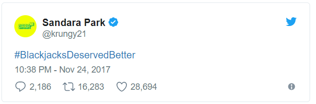 Dara cùng đã trả lời bằng dòng hashtag đầy ý nghĩa.