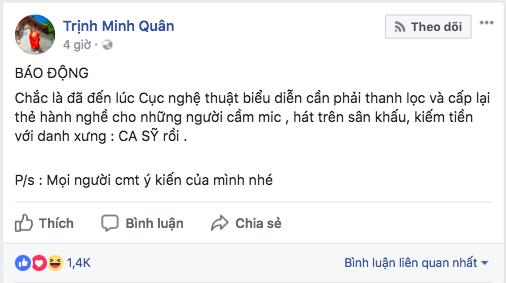 Thậm chí,Minh Quâncòn bị phát hiện ra status anh nói về sự việc củaChi Pumàđã chỉnh sửa đến 18 lần. - Tin sao Viet - Tin tuc sao Viet - Scandal sao Viet - Tin tuc cua Sao - Tin cua Sao