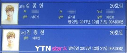 Cả 4 sẽ giữ vai trò chủ tang và là những ngườichịu trách nhiệmchính trong các nghi thức tang lễ bên cạnh gia đình (bố mẹ và chị gái) của Jonghyun.
