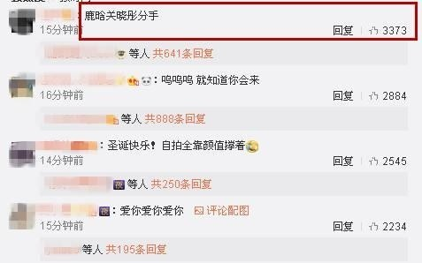 """Tuy nhiên điều gây chú ý hơn hẳn chính là bình luận: """"Lộc Hàm -Quan Hiểu Đồng chia tay"""" đã nhận được rất nhiều sự đồng tình của netizen."""
