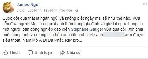 Các đạo diễn Việt bày tỏ niềm tiếc thương tới người đồng nghiệp. - Tin sao Viet - Tin tuc sao Viet - Scandal sao Viet - Tin tuc cua Sao - Tin cua Sao