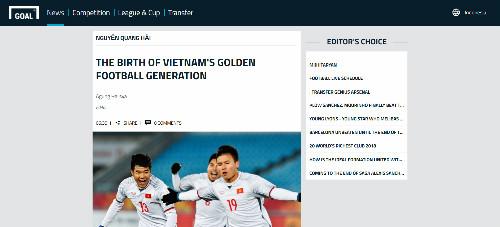 Goal.com cũng bày tỏ sự quan tâm với U23 Việt Nam bằng một bài viết vô cùng chất lượng.