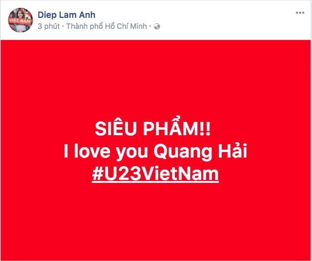 Diệp Lâm Anh cũng thể hiện tình cảm với cầu thủ Quang Hải. - Tin sao Viet - Tin tuc sao Viet - Scandal sao Viet - Tin tuc cua Sao - Tin cua Sao