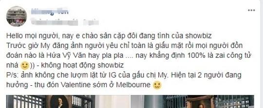 """Cuối cùng, cư dân mạng cũng đã lần mò ra được danh tính bạn trai của người đẹp. Theo đó, người dùng facebook này khẳng định người yêu Diễm My là """"trai công tử và không hoạt động trong showbiz"""". - Tin sao Viet - Tin tuc sao Viet - Scandal sao Viet - Tin tuc cua Sao - Tin cua Sao"""