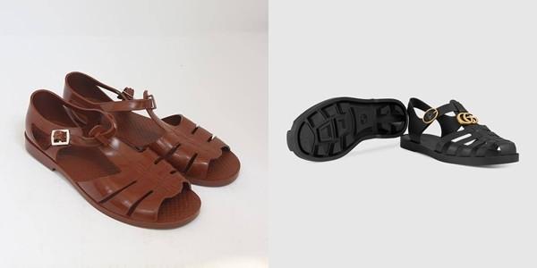 Nhìn cả 2 kiểu giày sẽ thấy rất nhiều nét tương đồng.