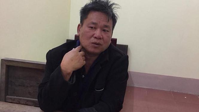 Nguyễn Viết Lộc tại Cơ quan Cảnh sát điều tra Công an huyện Đức Thọ (Ảnh: báo Thanh niên)