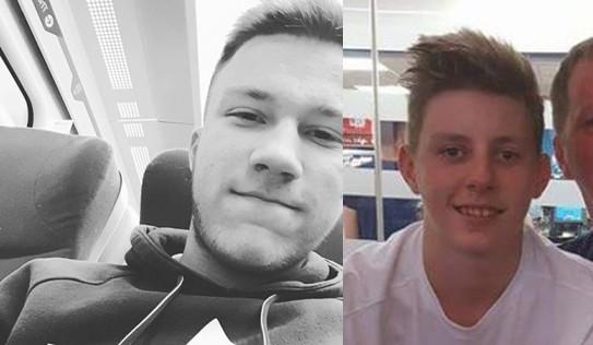 Chân dung của hai nạn nhân thiệt mạng trong vụ tai nạn:Mason Pearson(trái) vàGeorge Turner (phải)