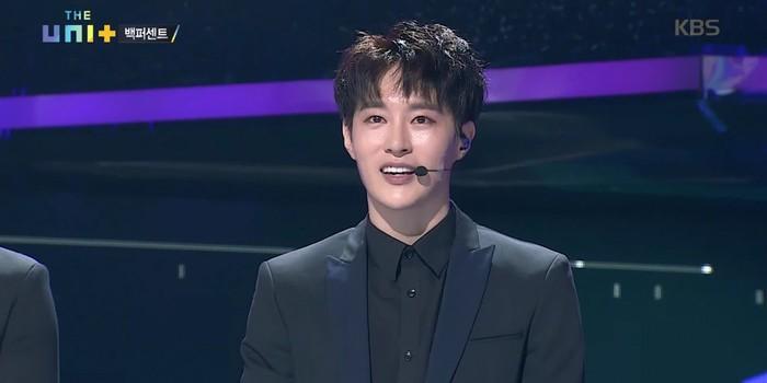 """Minwoo đã từng chia sẻ: """"Minwoo nói với các giám khảo/cố vấn: """"Chúng tôi vừa tổ chức kỷ niệm 5 năm ra mắt nhưng không có nhiều người biết về chúng tôi. Nhưng điều khiến chúng tôi luôn cảm thấyhạnh phúc là được đứng trên sân khấu""""."""
