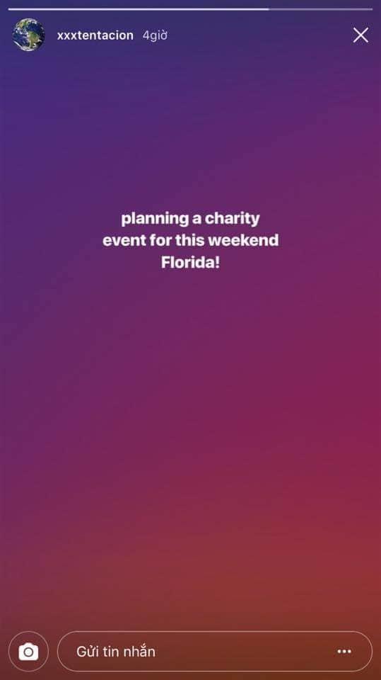 XXXTentacion háo hức chia sẻ về buổi diễn vài tiếng trước khi bị sát hại.