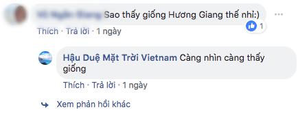 Có người lại cho rằng giống...Hương Giang?
