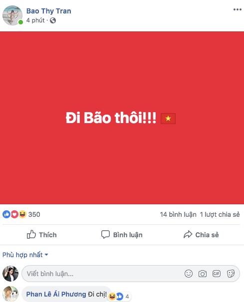 Ái Phương, Hoàng Yến Chibi, Bảo Thyăn mừng Việt Nam chiến thắng. - Tin sao Viet - Tin tuc sao Viet - Scandal sao Viet - Tin tuc cua Sao - Tin cua Sao